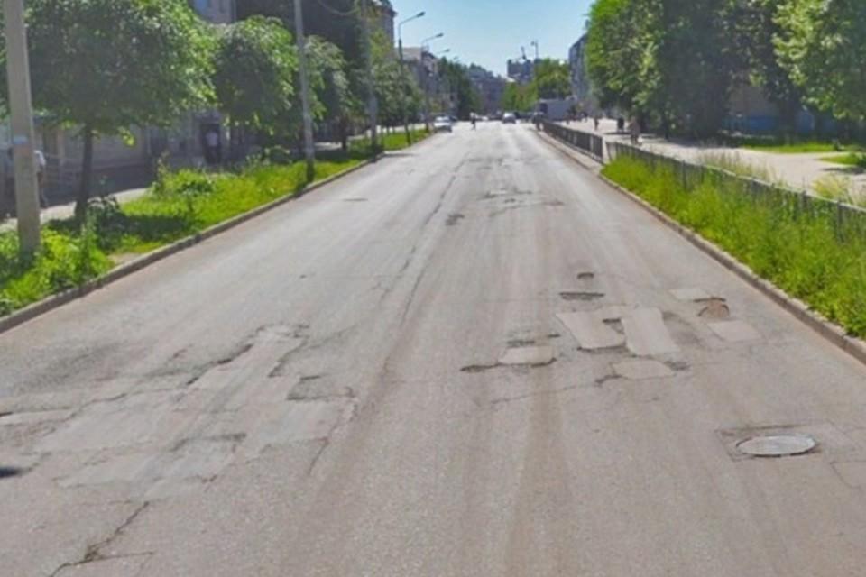 Улица Гагарина до ремонта. Фото: министерство транспорта РТ.