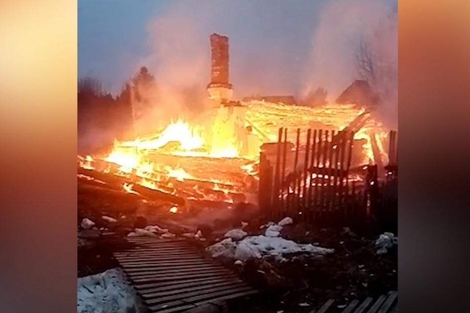 Площадь пожара составила 72 квадратных метра. Фото: соцсети.