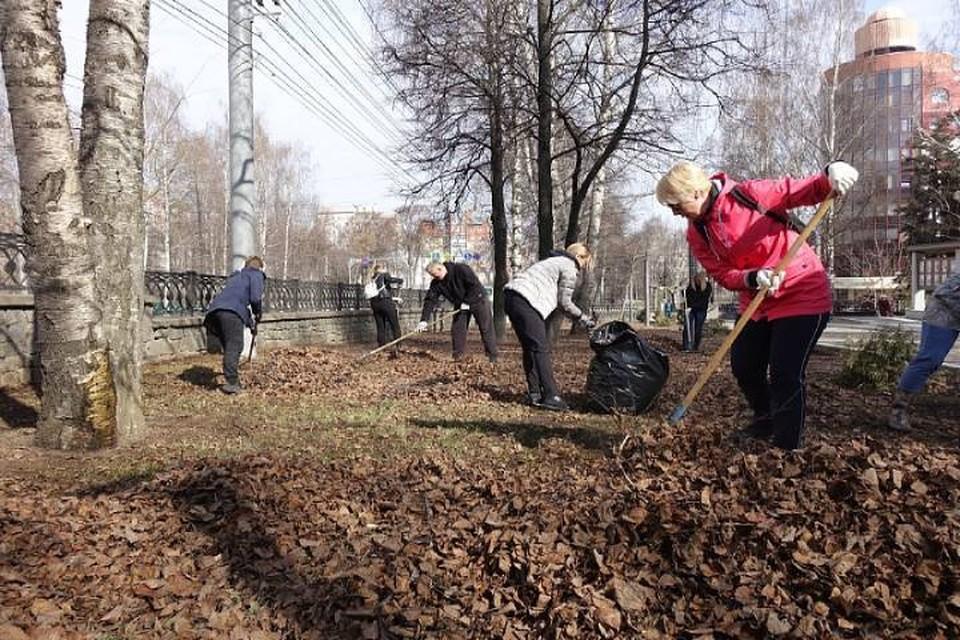 В Кирове, 24 апреля, на общегородской субботник вышли мэр города и депутаты Гордумы. Фото: duma.mo-kirov.ru