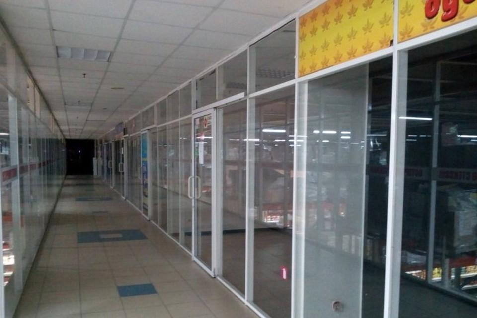 В Брянске в гипермаркете «Линия» закрылись торговые отделы. Фото: NASHBRYANSK.RU.
