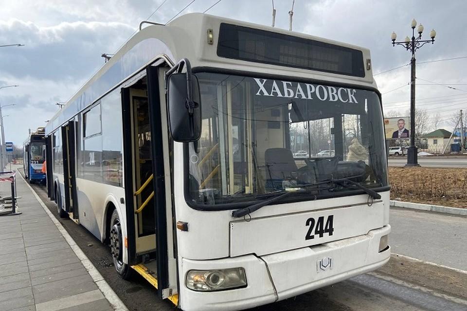 Все подаренные Москвой троллейбусы прибыли в Хабаровск