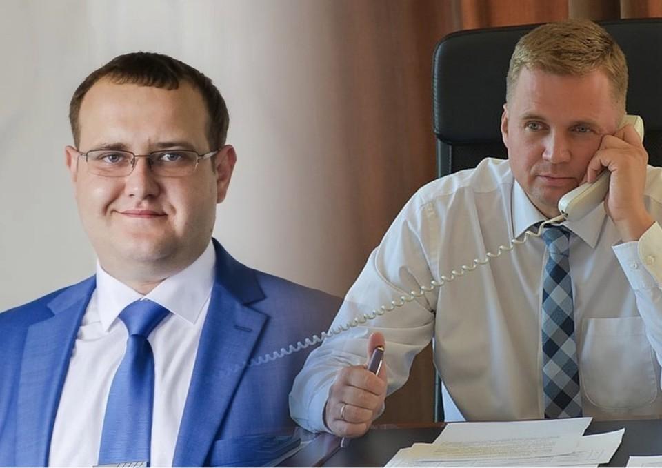 Вадим Герман (слева) пошел на следку со следствием, подчиненные Александра Виноградова (справа) заявили, что он действовал в интересах жителей. Фото: администрация Троицка