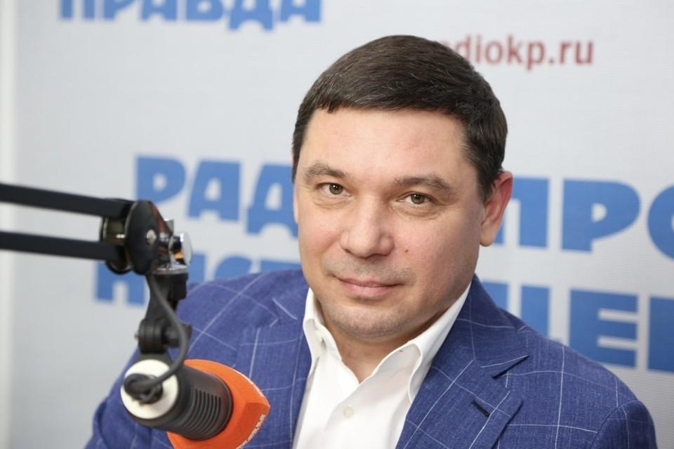 Мэр Краснодара Евгений Первышов в прямом эфире радио «КП»-Краснодар»