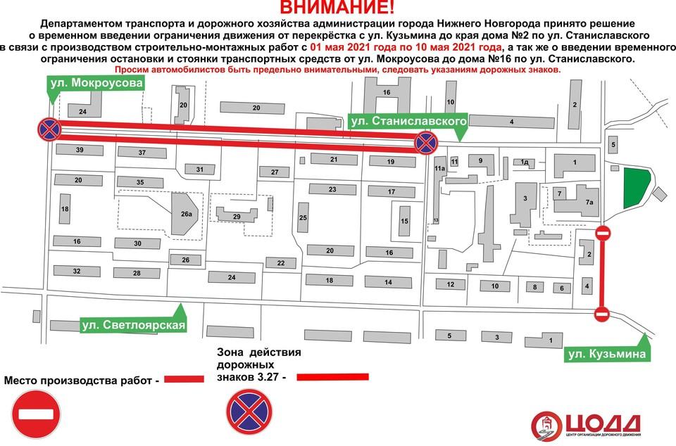 В Нижнем Новгороде на местном проезде ул. Светлоярской временно ограничат движение транспорта. Фото: городской департамент транспорта и дорожного хозяйства.