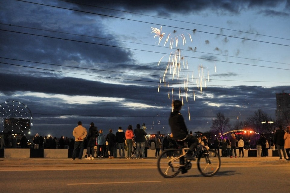 Празднование 1 мая в Челябинске завершилось салютом