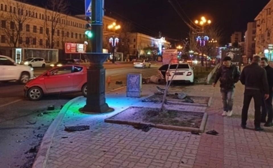 Три человека пострадали в ДТП в центре Хабаровска