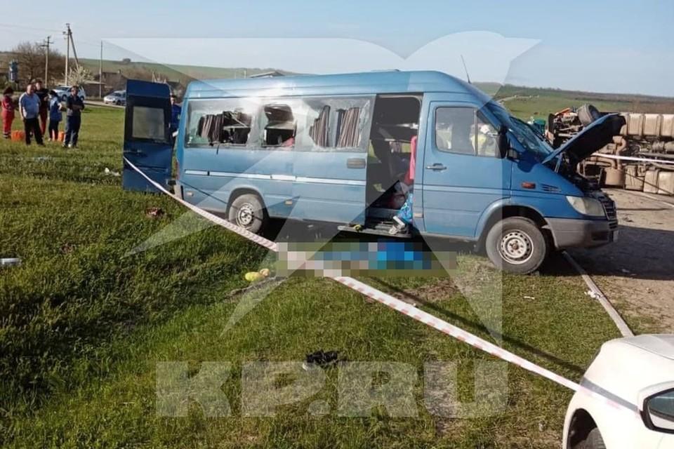 АВария на трассе на Ставрополье произошла 30 апреля. Фото предоставлено очевидцами.