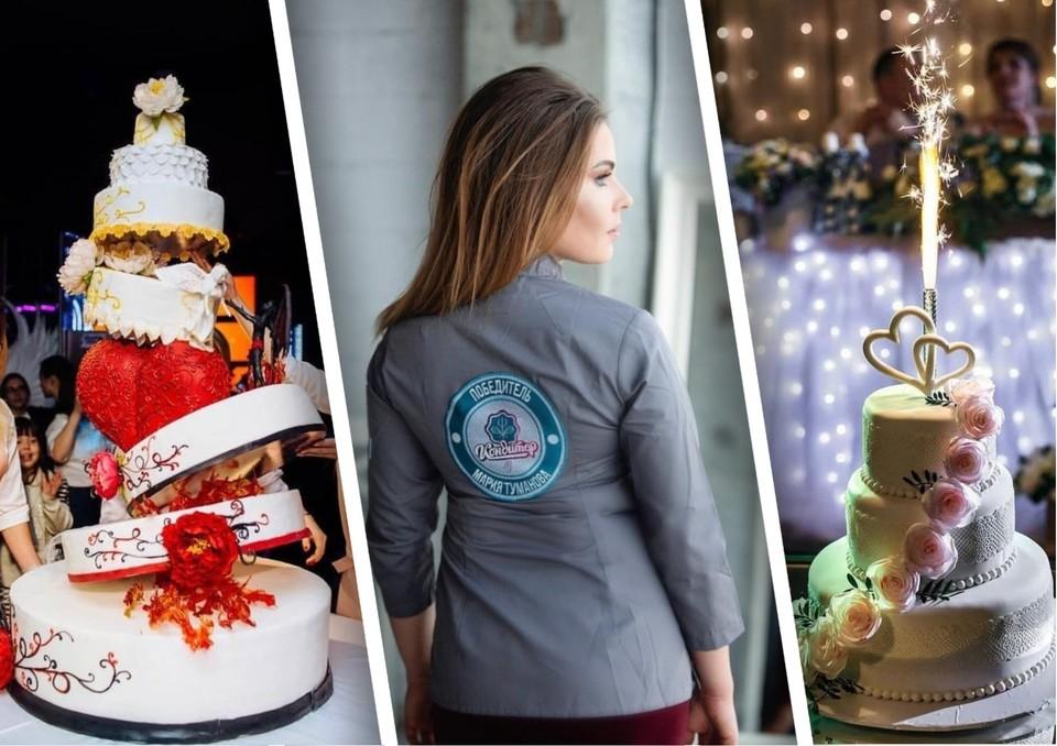 Мария Туманова из Челябинска делает торты невероятной красоты. Фото: Анастасии Христолюбовой и из архива героя публикации