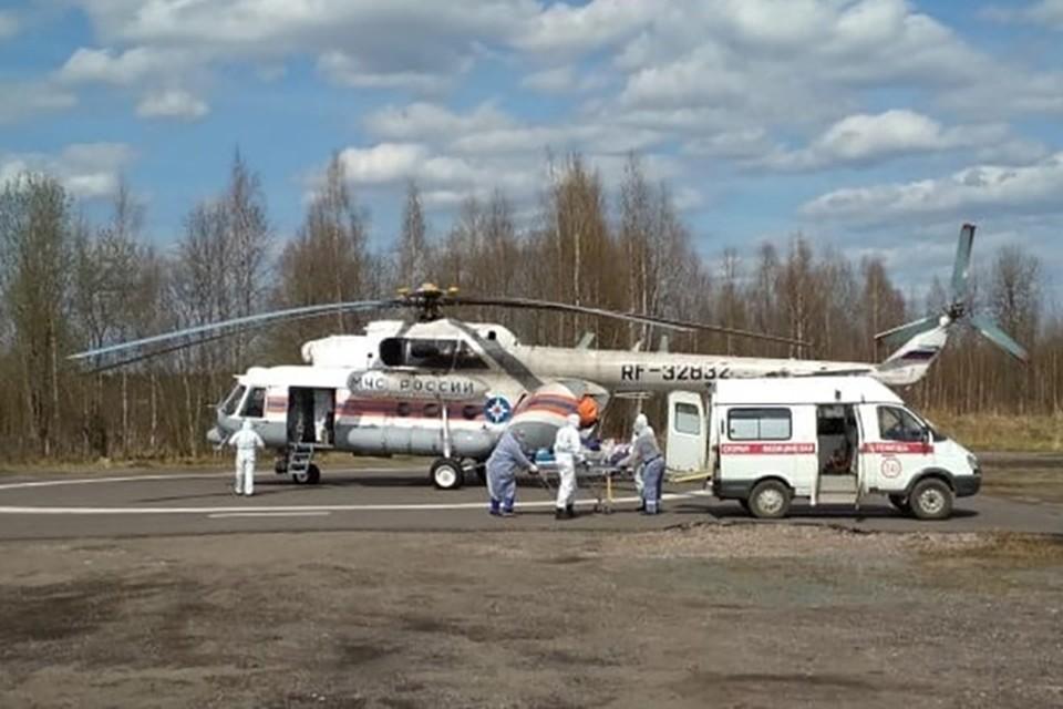 Вертолет санавиации вылетал за пациентом в Нелидово Фото: ГУ МЧС России по Тверской области