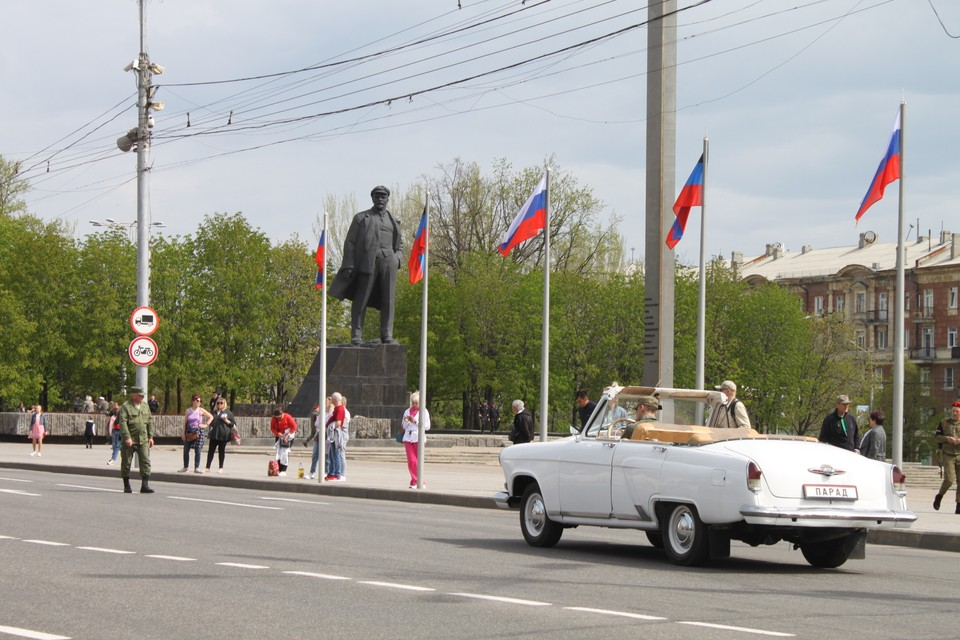 Репетиция Парада Победы в Донецке - 2021