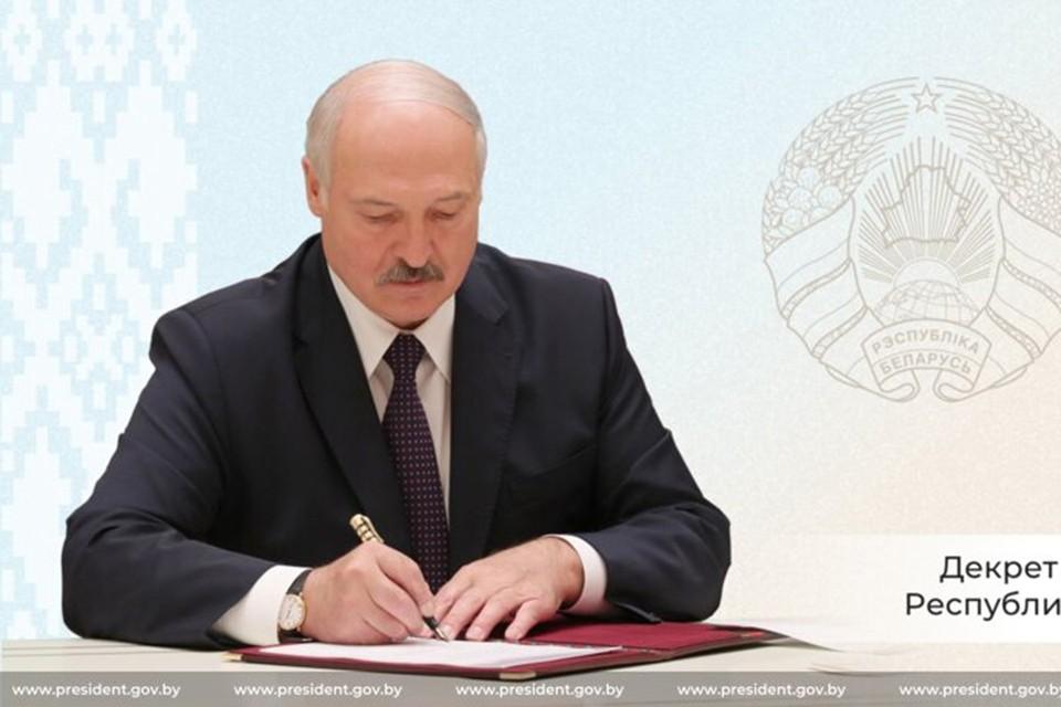Лукашенко 9 мая подписал Декрет «О защите суверенитета и конституционного строя». Фото: president.gov.by