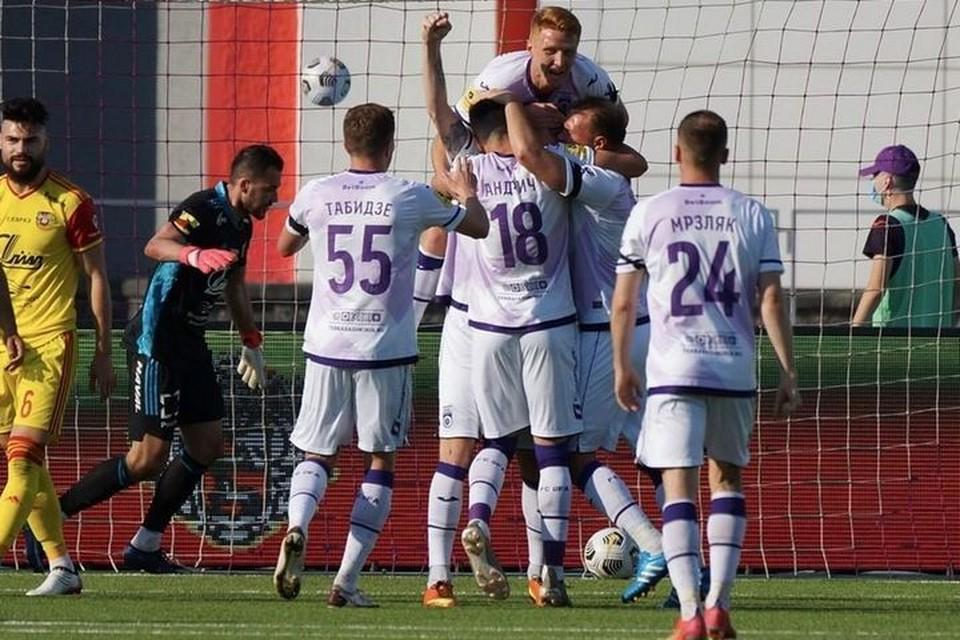 Победным для «Уфы» стал автогол защитника «Арсенала» Беляева. Фото: premierliga.ru