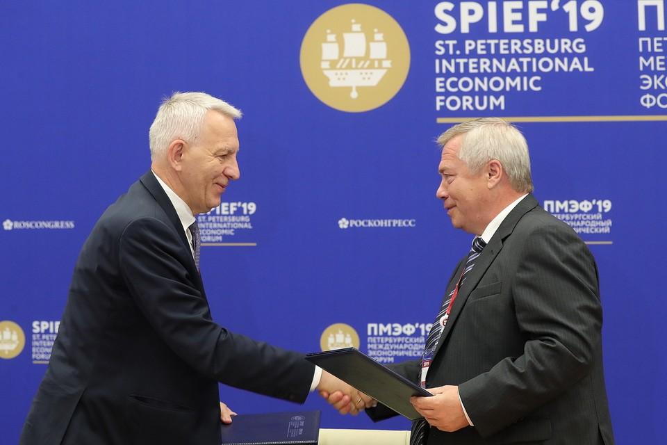 Василий Голубев рассказал, какие контракты планируется подписать на ПМЭФ-2021. Фото: правительство РО