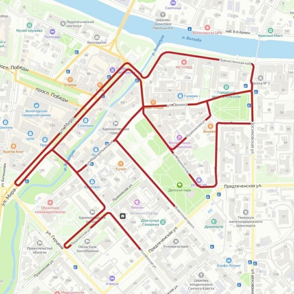 Схема предоставлена администрацией города Вологды
