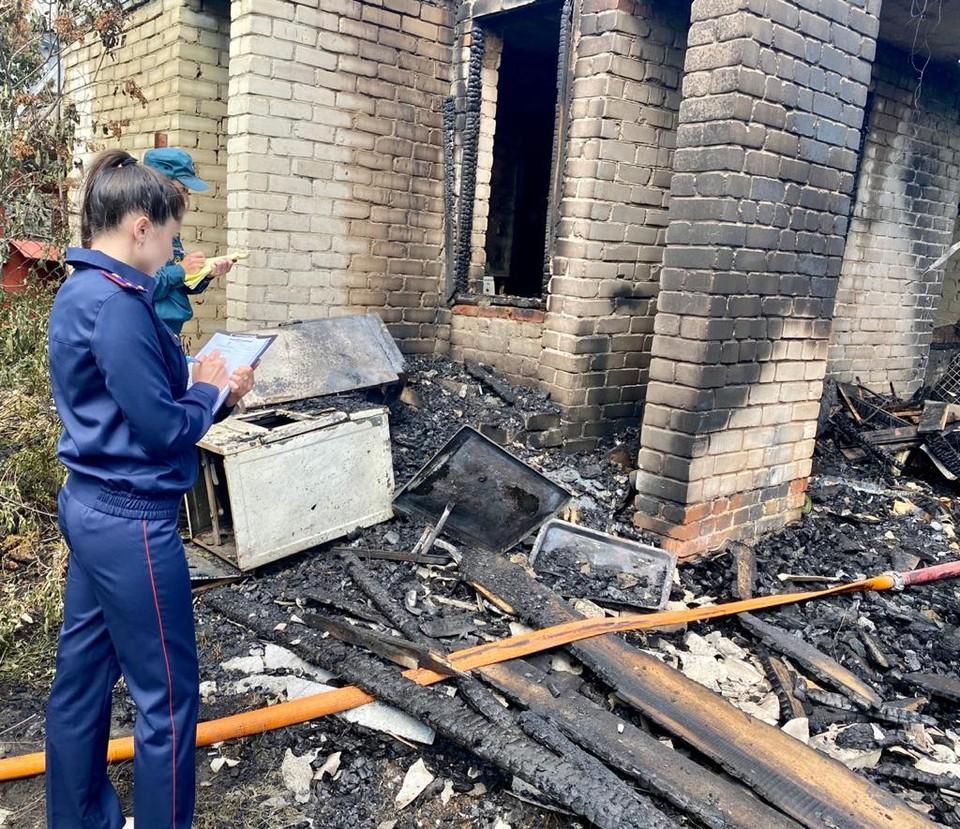 Организована доследственная проверка по факту смерти мужчины на пожаре
