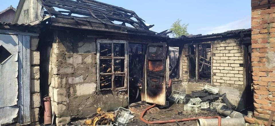 Пожар в Ершове