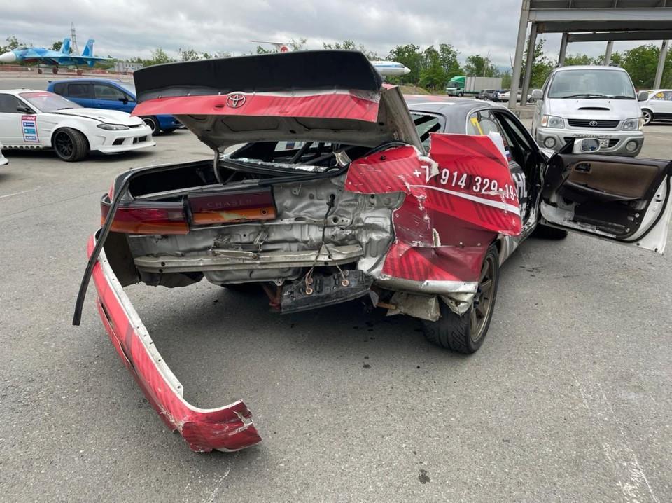 Автомобиль Александра Дышливенко после аварии