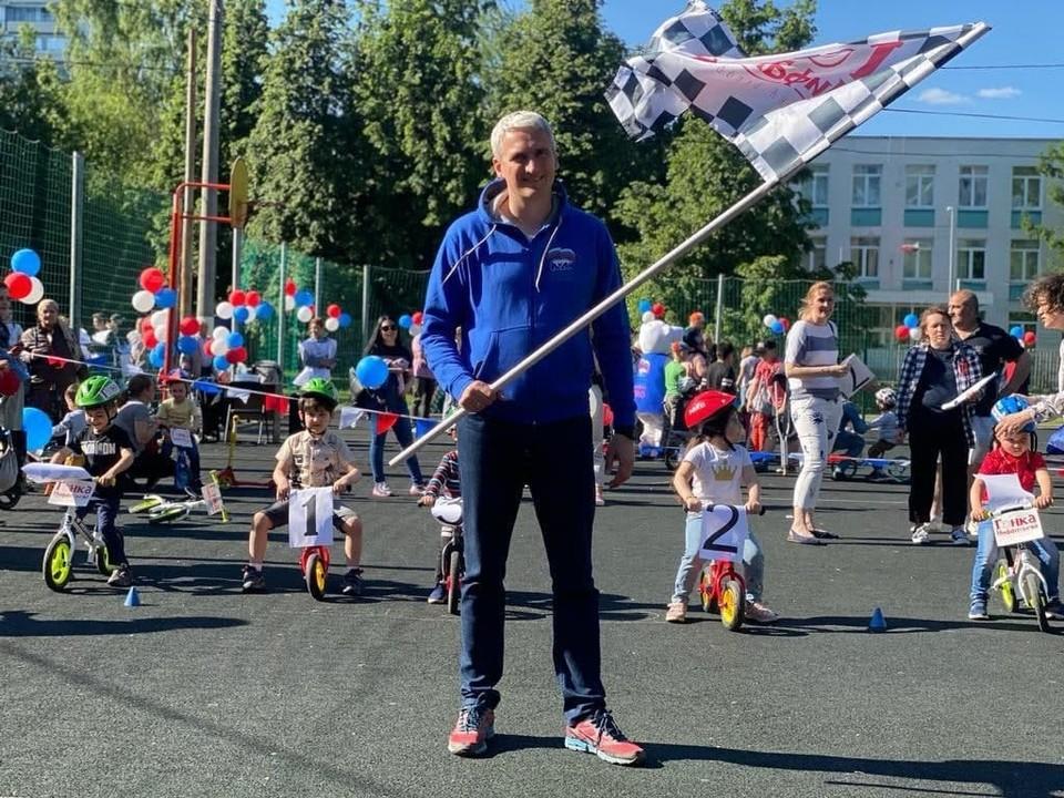 Детский турнир по велобегу прошел в Южном округе. Фото: Галина Бродская