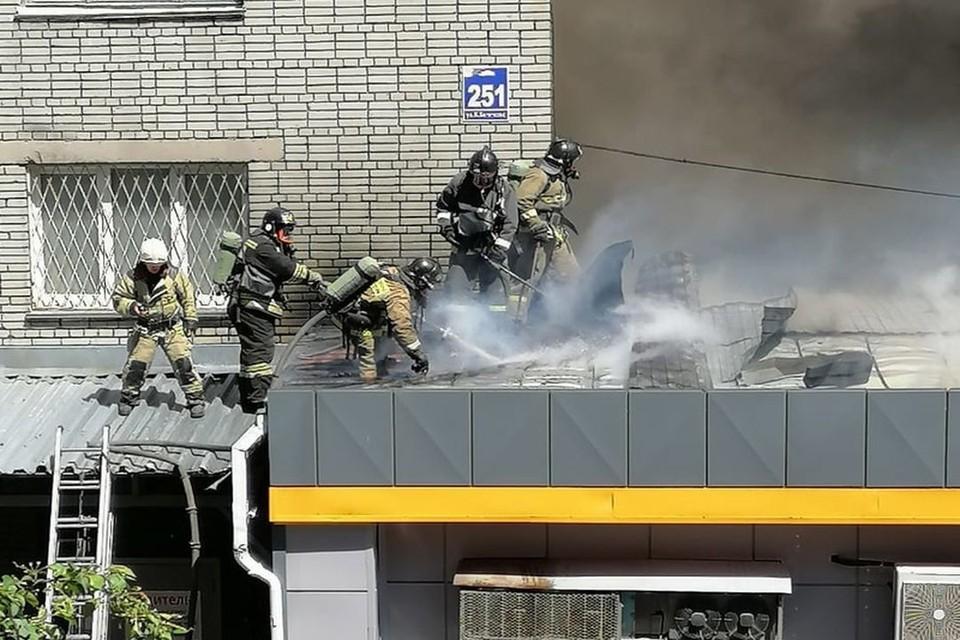 В Новосибирске горит супермаркет.