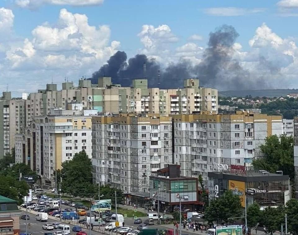 Пожар был виден отовсюду. Фото: Владимир Русаков