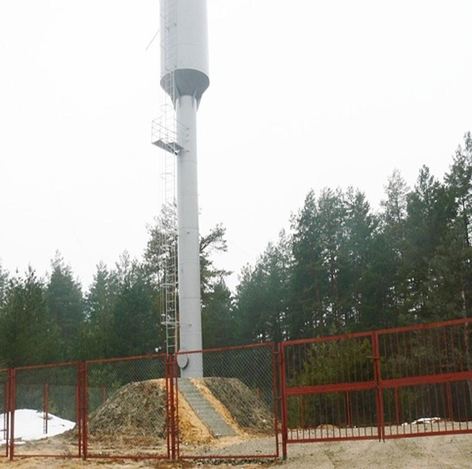 Водонапорная башня по улице лесной в поселке Стяжное. Фото: департамент ТЭК и ЖКХ Брянской области.
