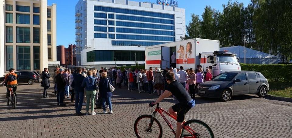 Во время первой выездной вакцинации привили 565 человек Фото: Амир Закиров