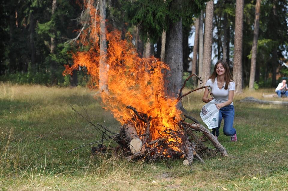 Теперь в лесу можно разжигать костер, но строго соблюдая правила безопасности