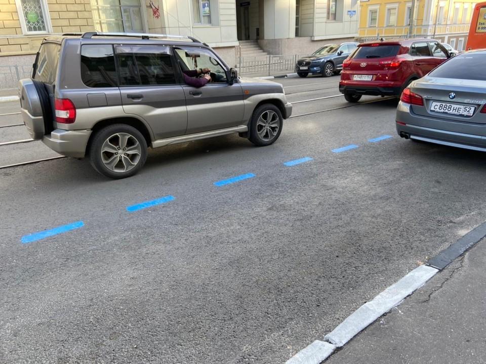 Платные парковки отметят синей разметкой в Нижнем Новгороде