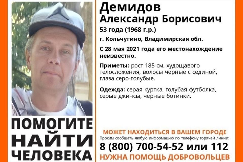 """В Брянской области ищут 53-летнего мужчину. Фото: """"Лиза Алерт""""."""