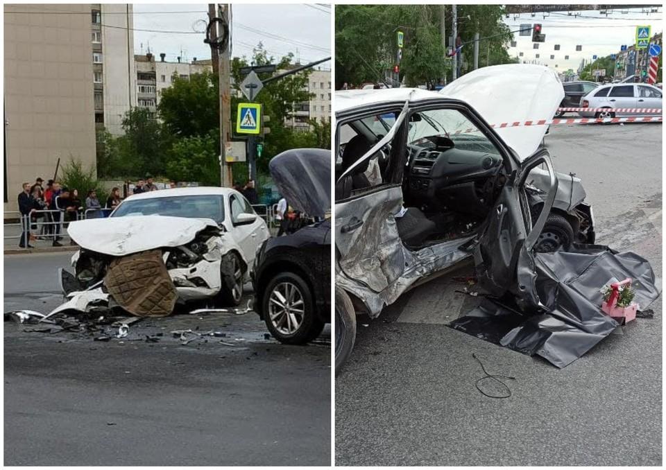 У водителя Volkswagen (справа) мог быть приступ эпилепсии, в «Ладе» ехали семь человек
