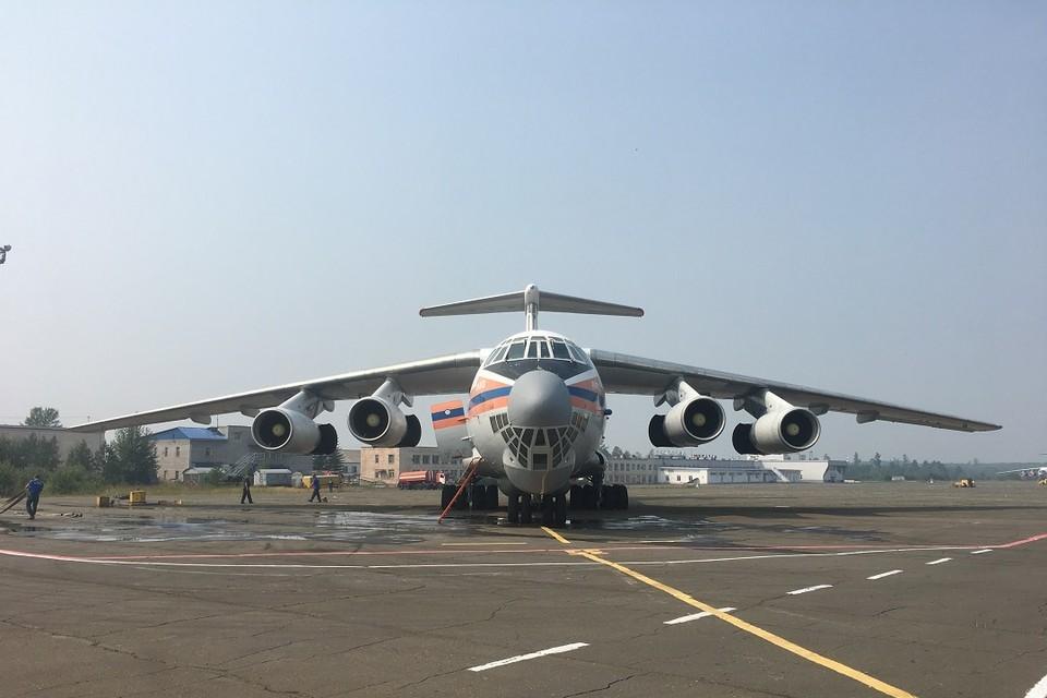 Самолет Ил-76 МЧС России прилетел в Иркутскую область для тушения крупного лесного пожара