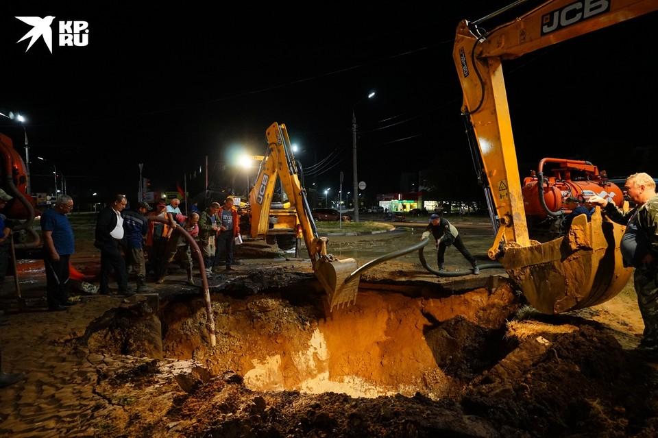 Авария на водопроводе в Орле 8 июля