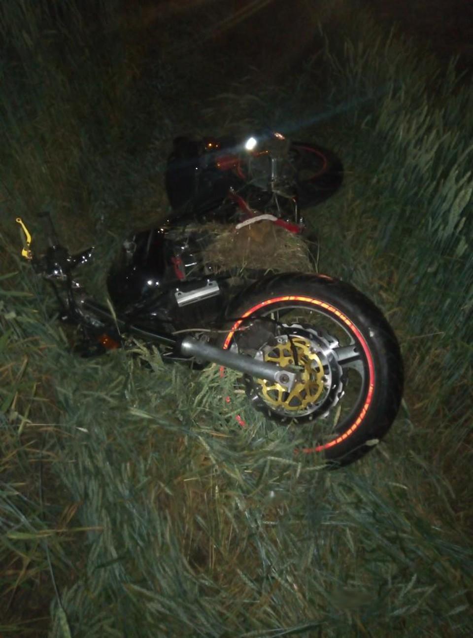 Водитель мотоцикла получил тяжелые травмы