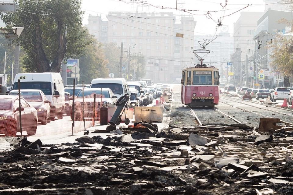 В Новосибирске на 10 дней закроют два трамвайных маршрута.