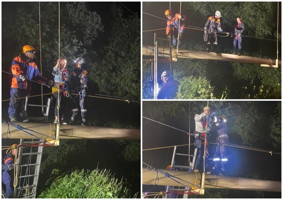 Спасатели закончили работать ночью. Фото: ГУ МЧС России по Карачаево-Черкесской республике.
