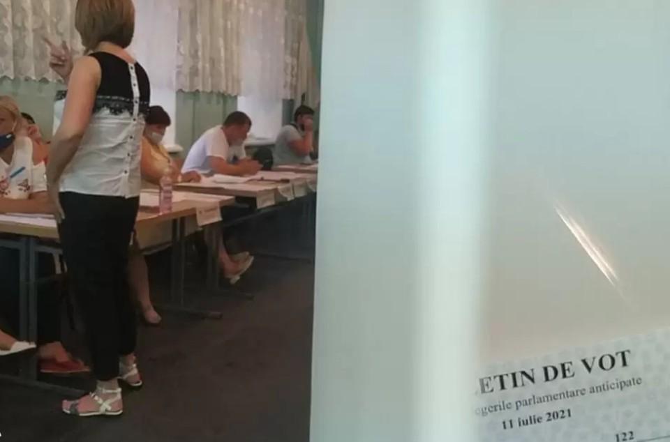 На избирательном участке. Фото: соцсети
