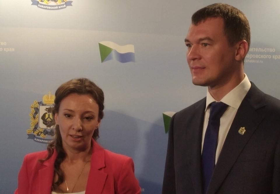 Хабаровский край посетила уполномоченный при Президенте РФ по правам ребенка Анна Кузнецова.