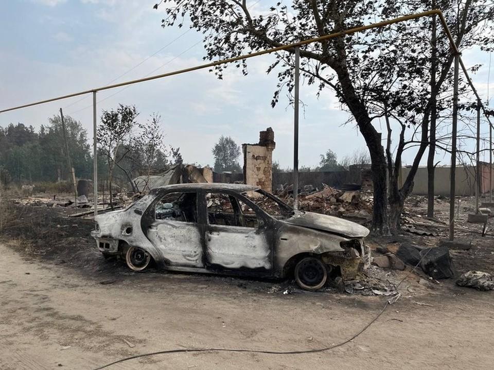Последствия огненной катастрофы в селе Джабык