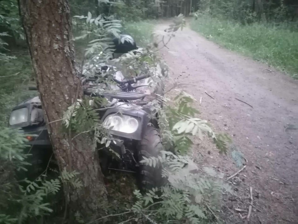 Девушки на квадроцикле врезались в дерево Фото: УГИБДД России по Тверской области