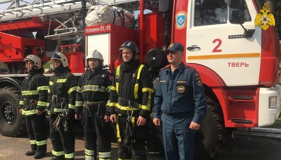 В Твери спасли мужчину из горящей квартиры Фото: ГУ МЧС России по Тверской области