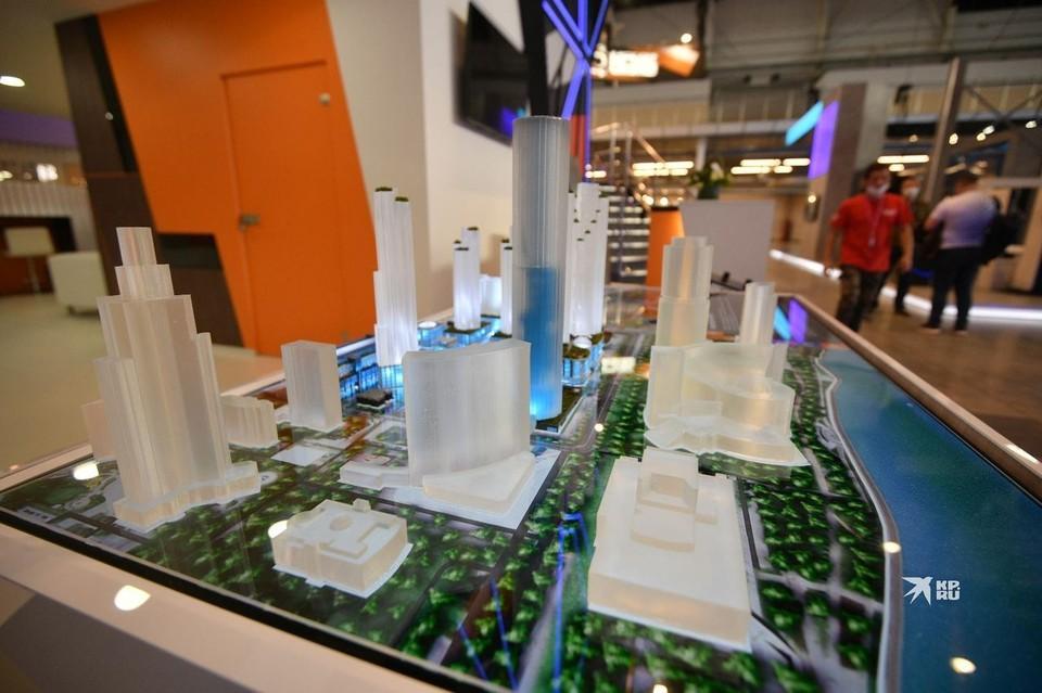 Макет будущего делового квартала представили на выставке «Иннопром-2021».