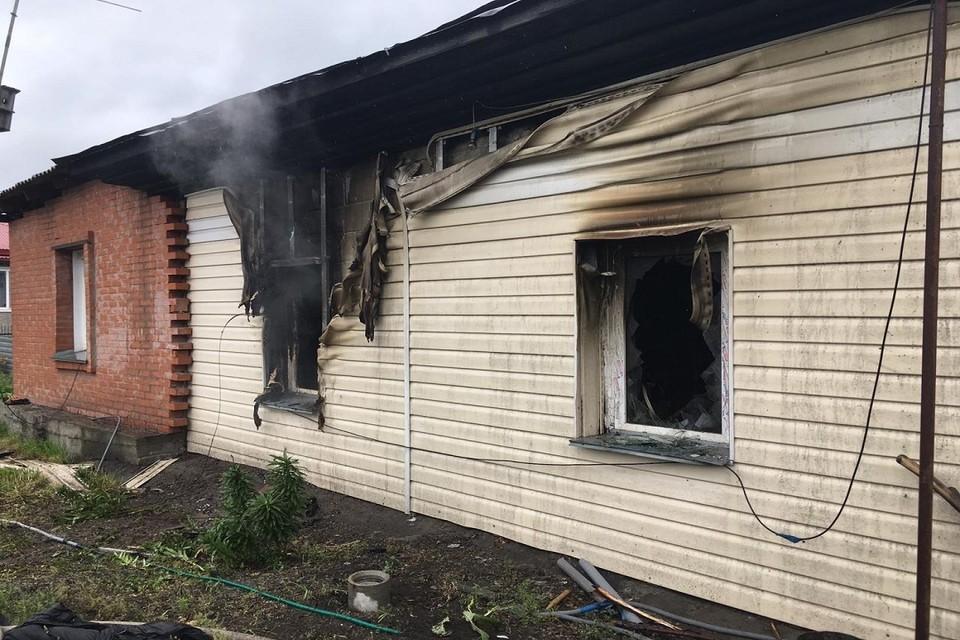 Под Новосибирском на пожаре в частном доме погиб мужчина. Фото: ГУ МЧС по НСО.