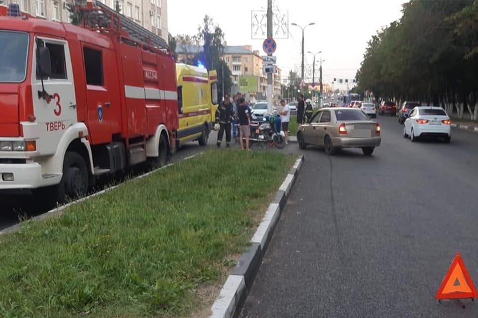 В ДТП пострадал мотоциклист Фото: УГИБДД России по Тверской области