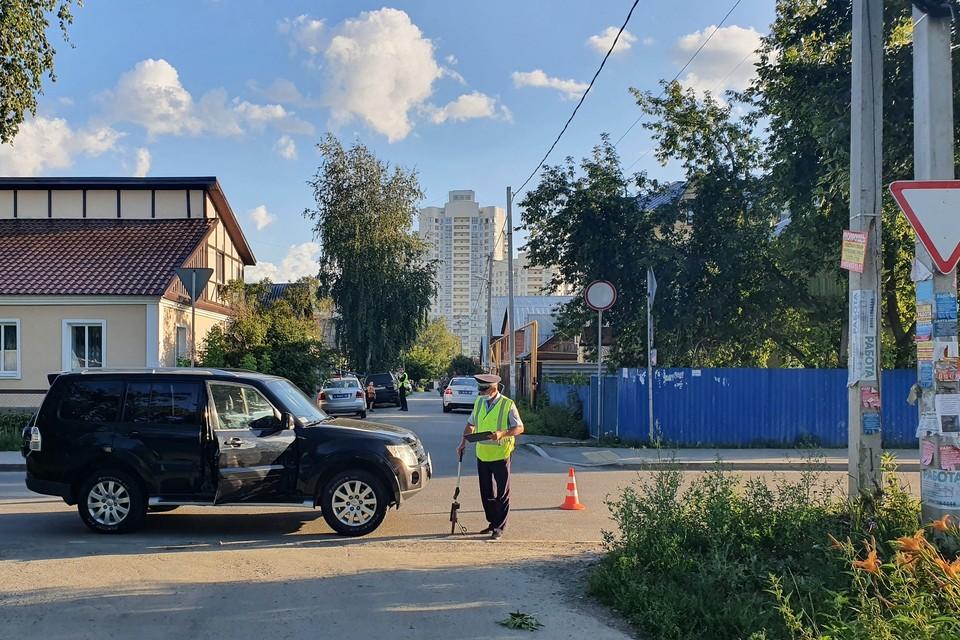 Водитель затормозил, но наезда на ребенка избежать не удалось Фото: отделение пропаганды ГИБДД по Екатеринбургу