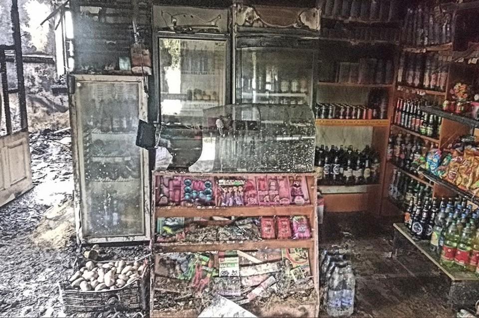 злоумышленники ограбили и подожгли магазин. Фото: мвдднр.рус