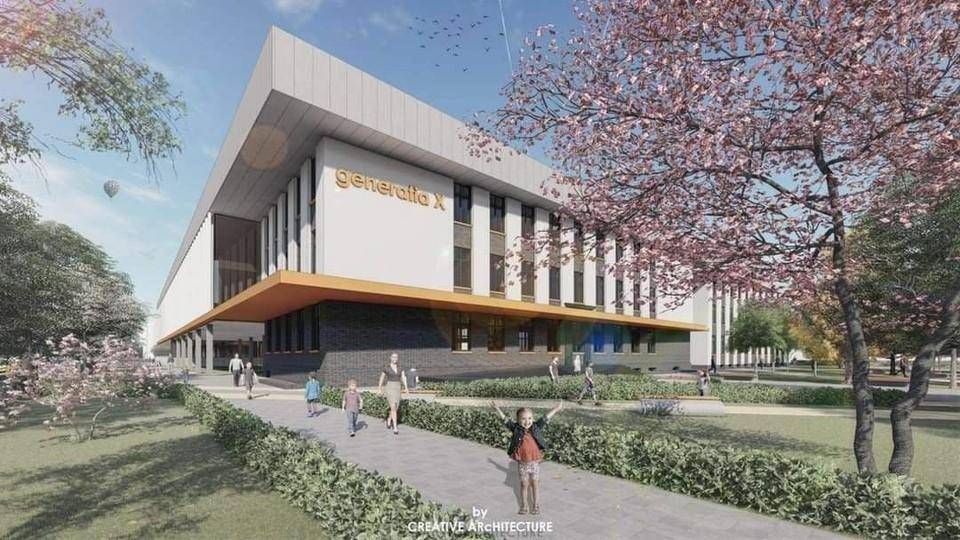 Будущее здание школы N86 на Буюканах.