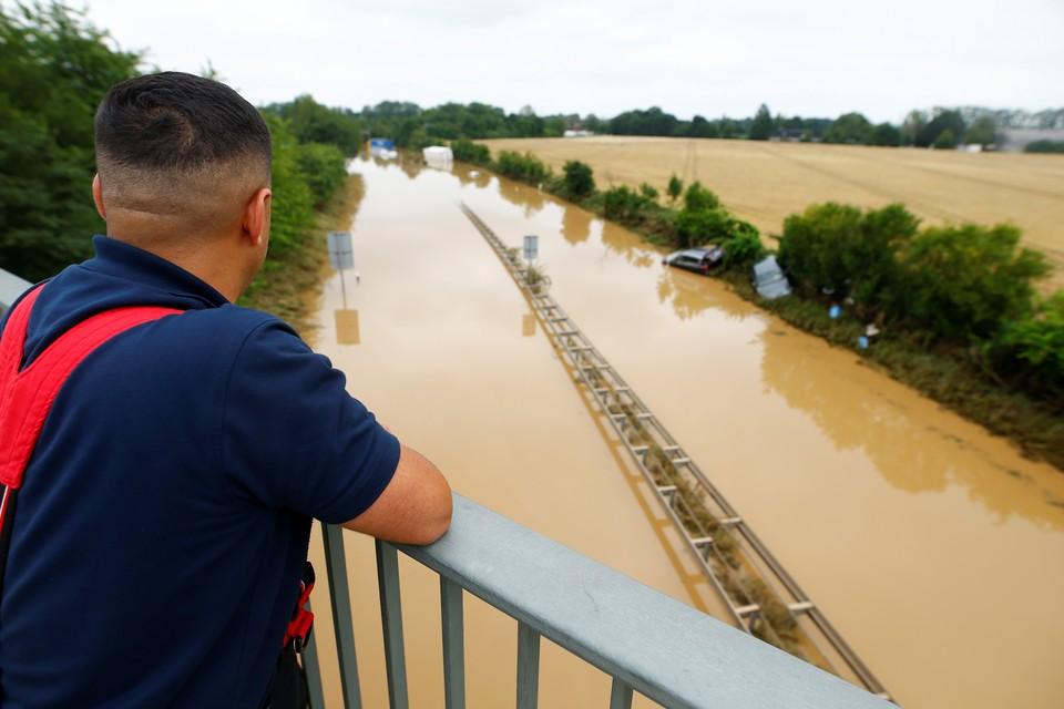 В Германии из-за наводнения затопило автотрассы