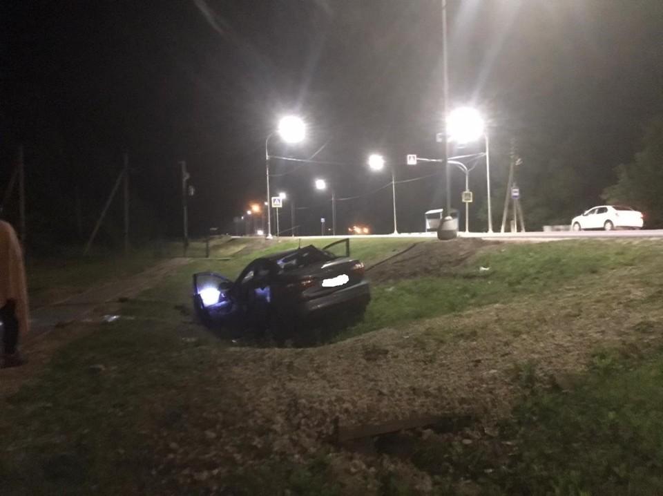 На трассе «Орел – Тамбов» в аварии пострадала девушка-водитель. Фото Госавтоинспекции Орловской области.