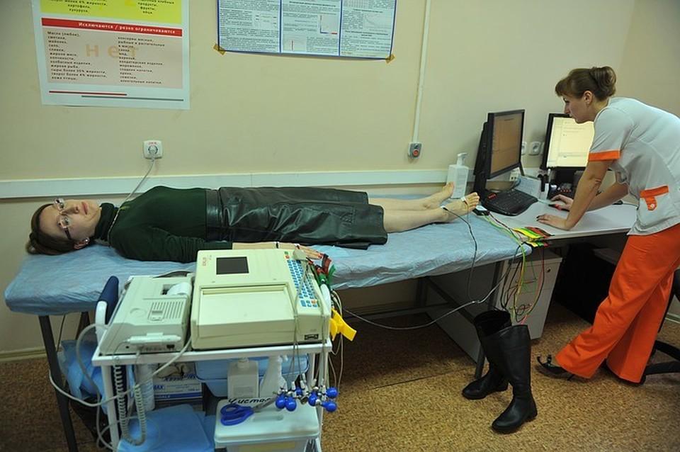 Один электрокардиограф установлен в кабинете неотложной помощи центральной поликлиники, второй – в кабинете диспансеризации.