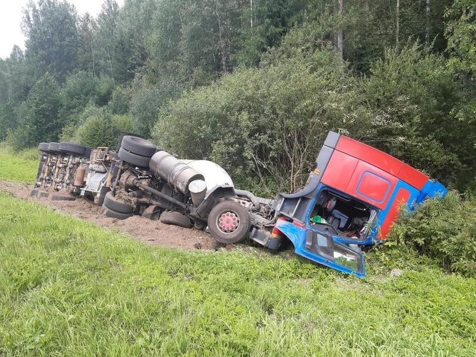 В аварии пострадал водитель Фото: УГИБДД России по Тверской области